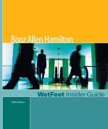 Booz Allen Hamilton: An insider guide - Gymkhana