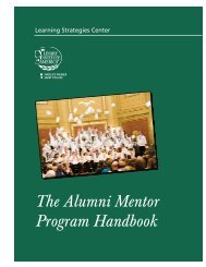 Alumni Mentor Handbook - The Culinary Institute of America