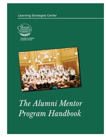 Alumni Mentor Handbook - The Culinary Institute of America