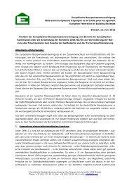Europäische Bausparkassenvereinigung Fédération Européenne d ...