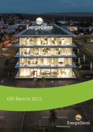 GRI-Bericht zum Geschäftsbericht 2012 - EnergieDienst AG