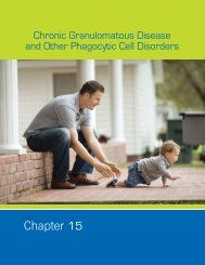Chronic Granulomatous Disease and Other Phagocytic Cell Disorders