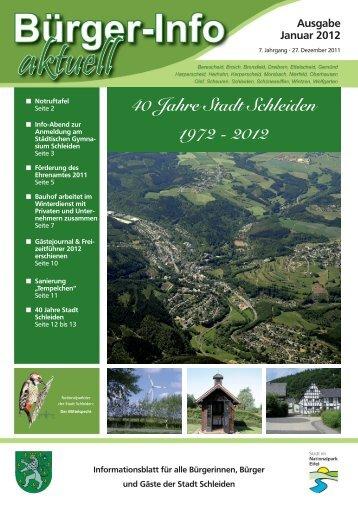 Infos - Stadt Schleiden