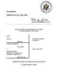 05-06077 Rebein, Chapter 7 Trustee v. Kost et al ... - District of Kansas