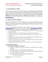Section 3- AFPD Plan & Permit requirements City of Arvada