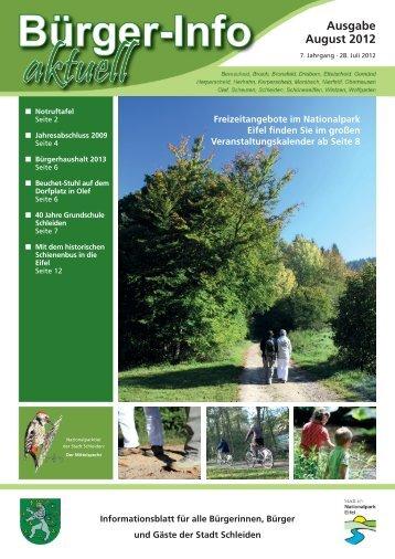 Ausgabe August 2012 - Stadt Schleiden