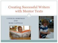 Creating Successful Writers with Mentor Texts