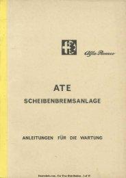 ATE Scheibenbremsanlage - Anleitungen Für Wartung - Duettoinfo