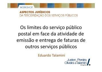 Os limites do serviço público Os limites do serviço público postal em ...