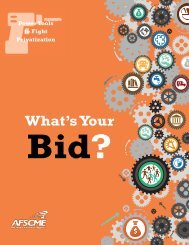 What's Your Bid? - AFSCME