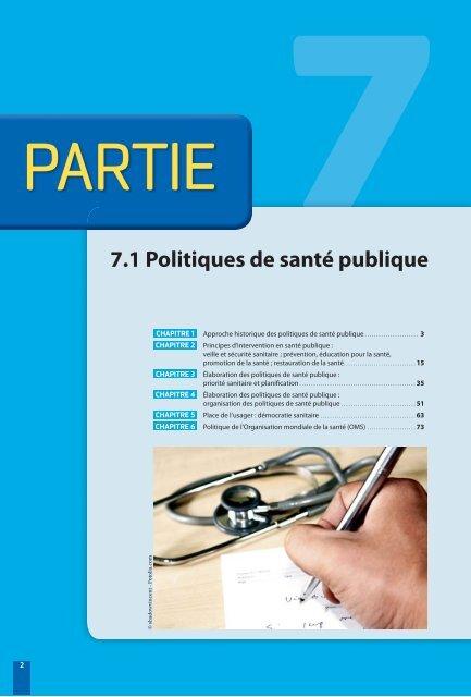 PARTIE 77.1 Politiques de santé publique - Decitre
