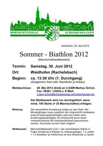 Sommer - Biathlon 2012 - Sportschützengau Schrobenhausen