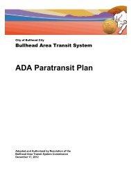 Bullhead Area Transit System ADA Paratransit Plan - The City of ...