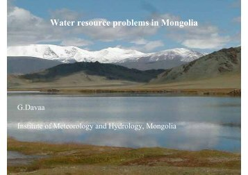 Water resource problems in Mongolia