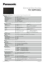 TH-50PH30U DOWNLOAD PDF (445k) - Panasonic