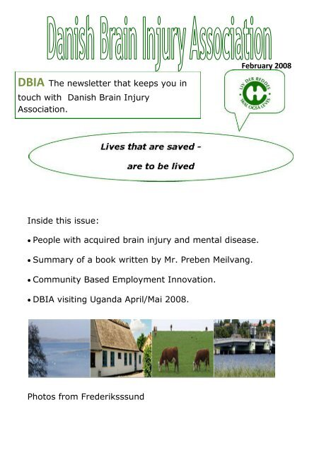 February 2008 Inside this issue: • People with acquired brain injury ...