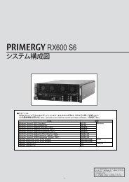 PRIMERGY RX600 S6 システム構成図 (2013年4月 ... - 富士通 - Fujitsu