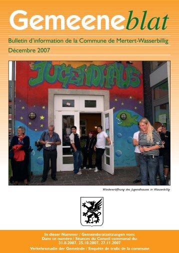 Gemeeneblat_Dezember 2007 - Administration Communale de ...
