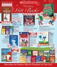 Holiday Gift Books Student Flyer - Scholastic Canada