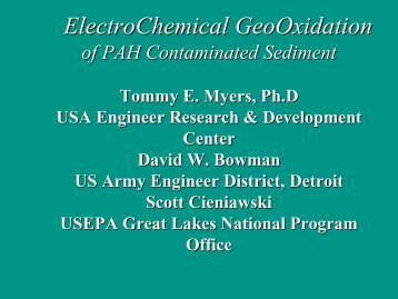 ElectroChemical GeoOxidation of PAH Contaminated Sediment