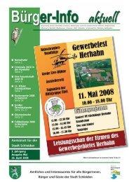 3. Jahrgang Ausgabe Mai 26. April 2008 - Stadt Schleiden
