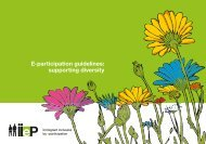 E-participation guidelines: supporting diversity - Pure 4 - Login ...