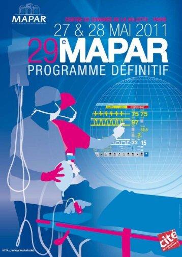 Programme du vendredi 27 mai - Mapar