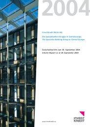 Investkredit Bank AG Die Spezialbanken-Gruppe in ... - Volksbank AG