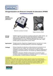Sonicatore ad ultrasuoni Hielscher UP400S
