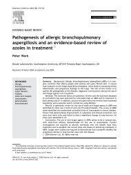 Pathogenesis of allergic bronchopulmonary aspergillosis and an ...