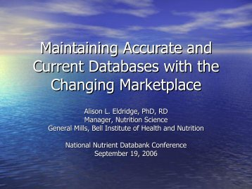 Maintaining Accurate and Current Databases with the Changing Ma