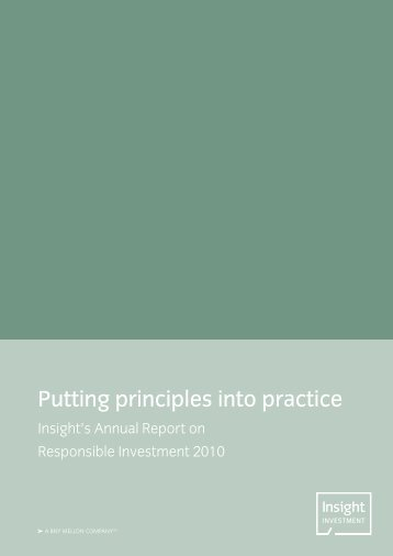 Putting principles into practice 2010 - Insight Investment