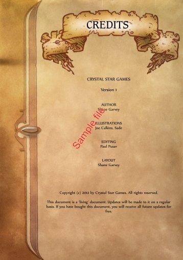 CREDITS - WarGameVault