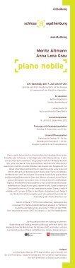 Moritz Altmann Anna Lena Grau piano nobile - auf Schloss ... - Seite 2