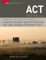 cLIMatE cHaNGE aDaPtatION aND tHE LOw caRBON ... - weADAPT