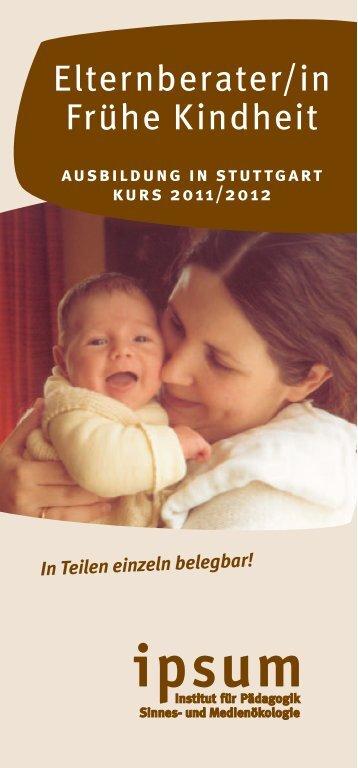 Elternberater/in Frühe Kindheit - Alanus Hochschule