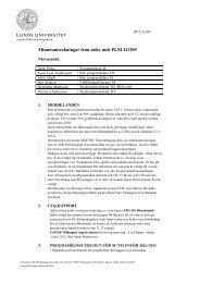 Minnesanteckningar från möte med PLM 111209 - Student LTH