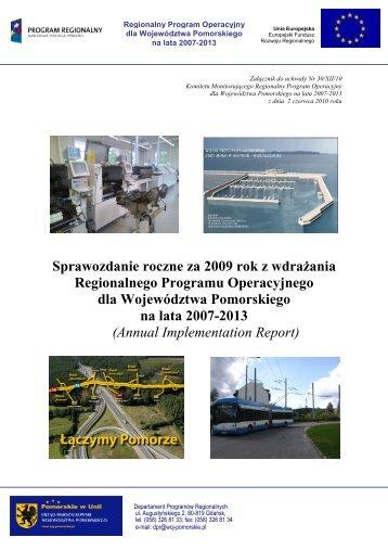 Sprawozdanie roczne z wdrażania RPO WP za 2009 r. - Agencja ...