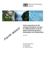Action Instructions for the ecological Evaluation of Lakes for ...
