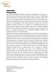 Cybermobbing Cybermobbing - Gemeinsam gesunde Schule ...