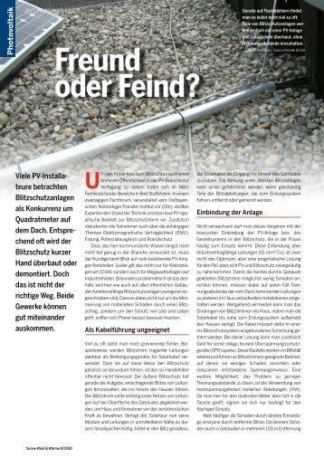 Freund oder Feind? (PDF / 248.85 KB) - Solarschmiede