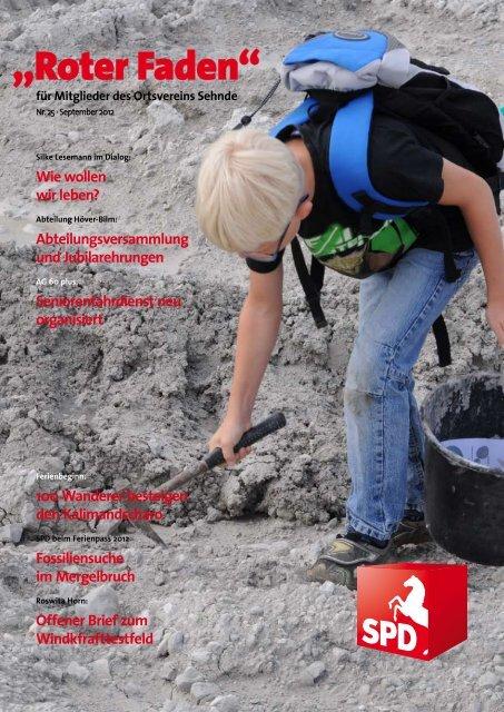 Roter Faden Ausgabe 09 2012 - SPD-Ortsverein Sehnde