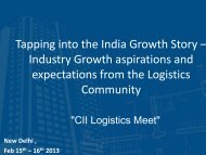 Tapping into the India Growth Story - CII Institute of Logistics