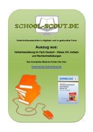 Verkehrserziehung im Fach Deutsch - Klasse 3/4 ... - School-Scout