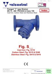 """Flanged """"Y"""" type strainer - VALCONTROL"""