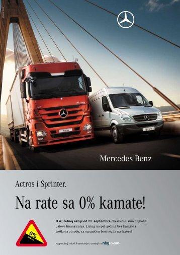 Na rate sa 0% kamate! - Mercedes-Benz Srbija i Crna Gora