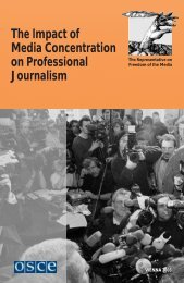 The Impact of Media Concentration on Professional ... - OSCE