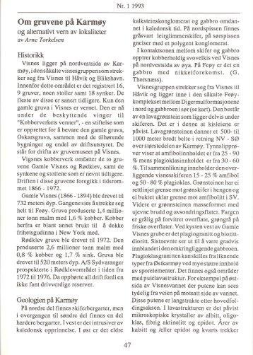 Om gruvene på Karmøy pdf - NAGS