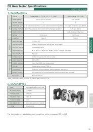 CB Gear Motor Specifications - U.S. Tsubaki