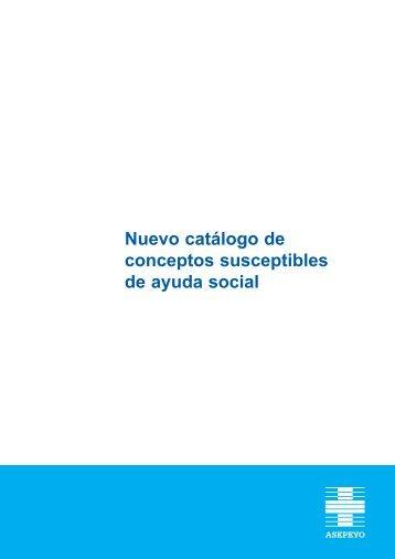 Nuevo catálogo de conceptos susceptibles de ayuda social - Asepeyo